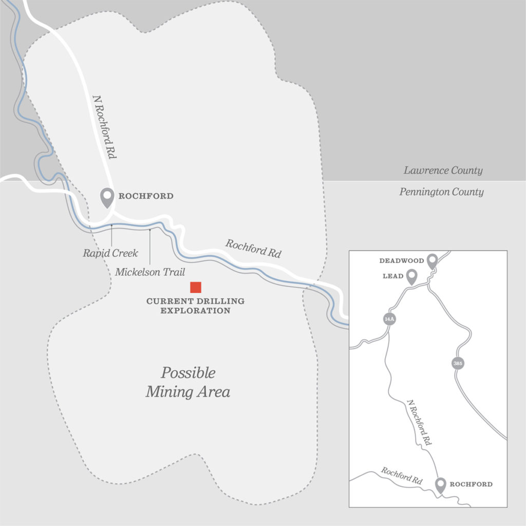 Map of Rochford mining site