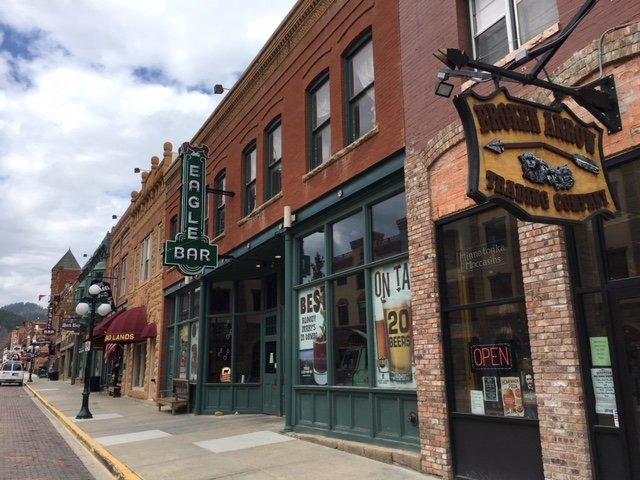 Photo of downtown store front in deadwood