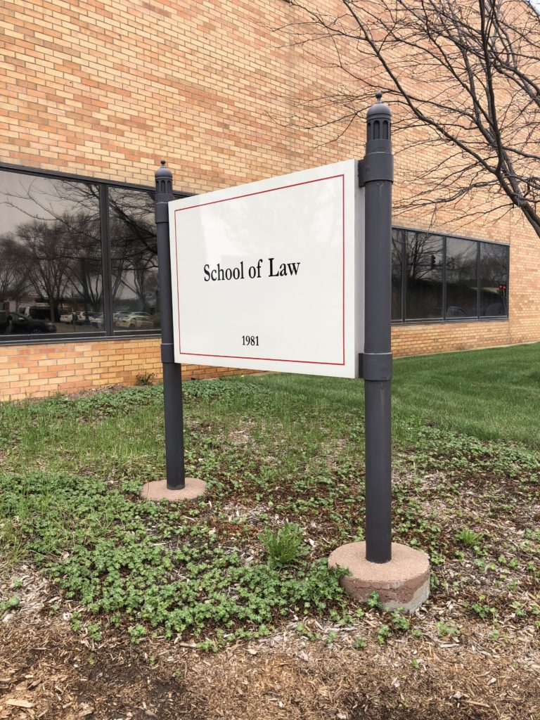 USD School of Law sign