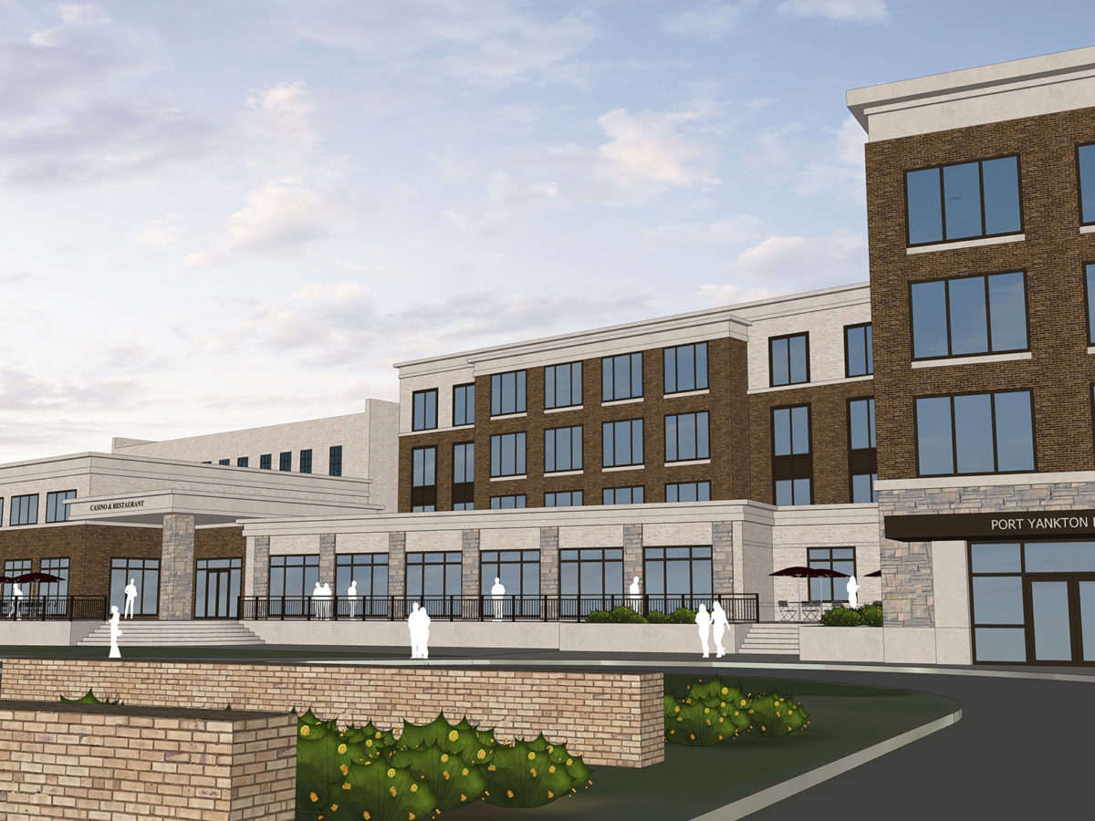 Architectural renderings of Port Yankton Casino project