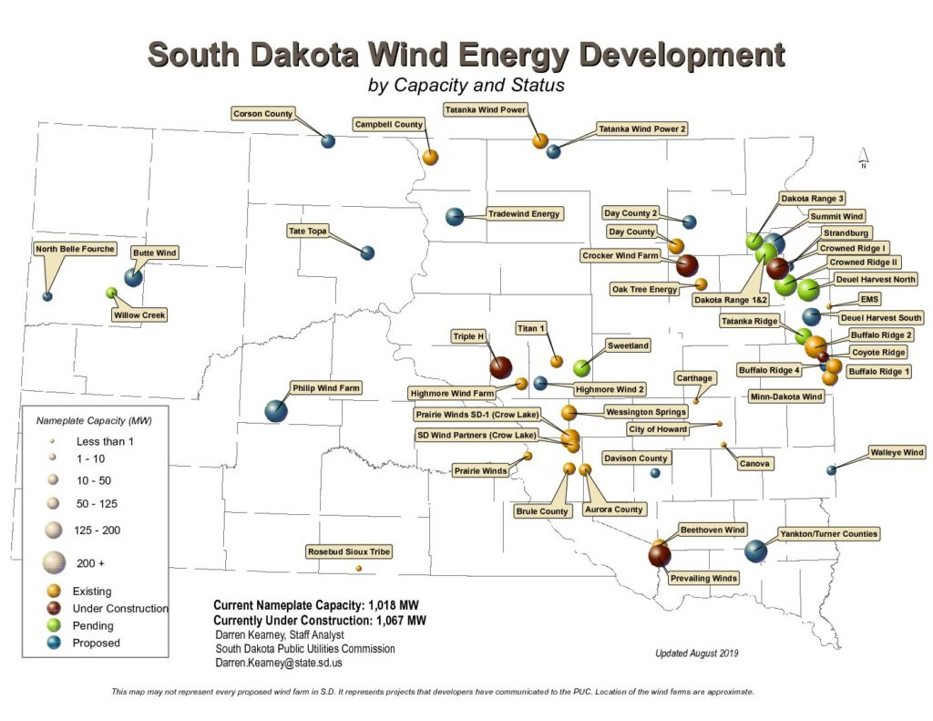 Wind Energy Expansion In S D To Bring 888 More Turbines 3 3 Billion Investment South Dakota News Watch